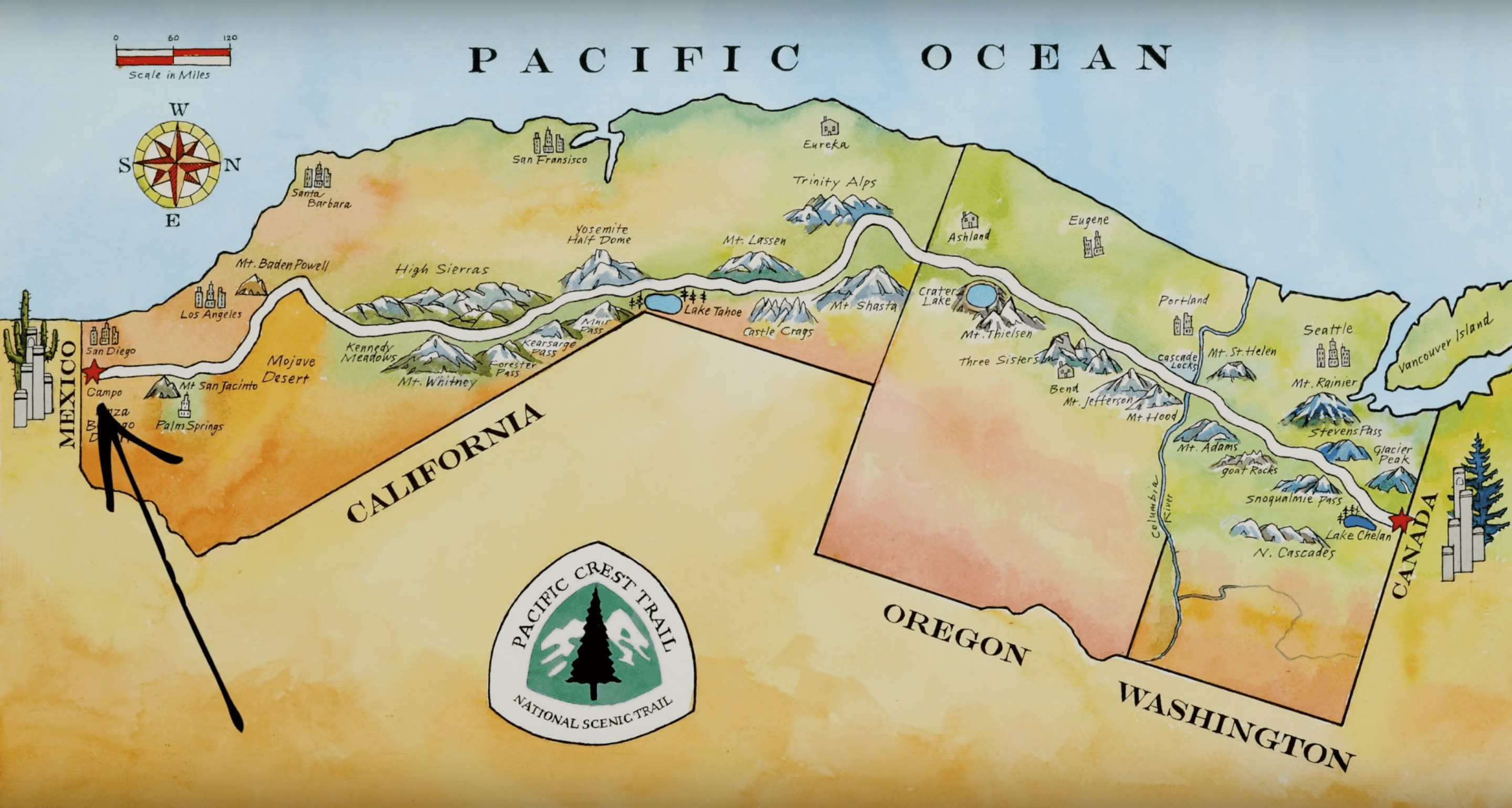 only the essential wild confluence films pacific crest trail map