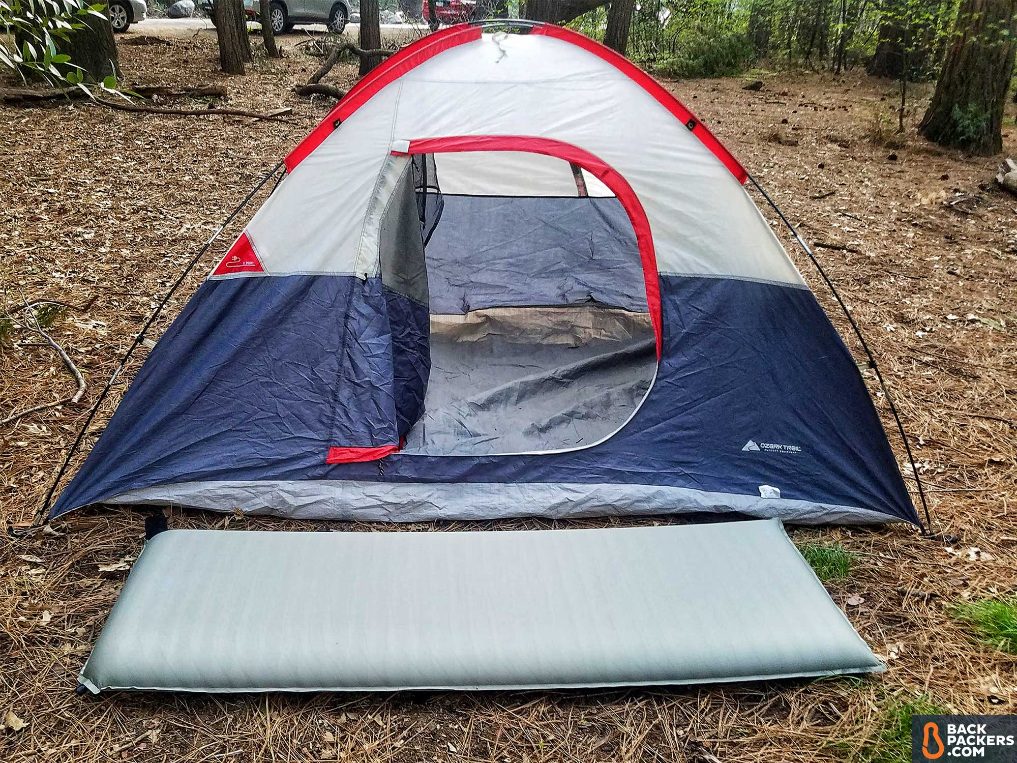 rei-c&-bed-3.5-review-inflated-outside-tent & REI Camp Bed 3.5 Review | Sleeping Pad Review | Backpackers.com